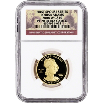2008-W US First Spouse Gold 1/2 oz Proof $10 - Louisa Adams NGC PF70