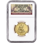 2008-W US First Spouse Gold 1/2 oz BU $10 - Martin Van Buren's Liberty NGC MS70