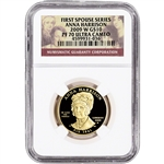 2009-W US First Spouse Gold 1/2 oz Proof $10 - Anna Harrison NGC PF70