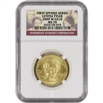 2009-W US First Spouse Gold (1/2 oz) BU $10 - Letitia Tyler - NGC MS70