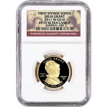 2011-W US First Spouse Gold 1/2 oz Proof $10 - Julia Grant NGC PF70