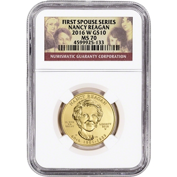 2016-W US First Spouse Gold 1/2 oz BU $10 - Nancy Reagan NGC MS70