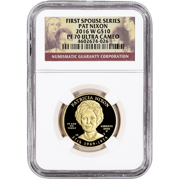 2016-W US First Spouse Gold 1/2 oz Proof $10 - Patricia Nixon NGC PF70