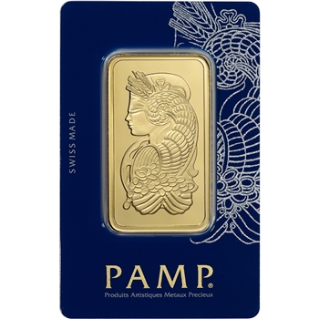 100 gram Gold Bar - PAMP Suisse - Fortuna - 999.9 Fine in Sealed Assay