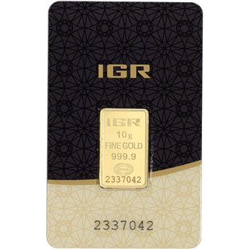 10 gram IGR Gold Bar - Istanbul Gold Refinery - 999.9 Fine in Sealed Assay