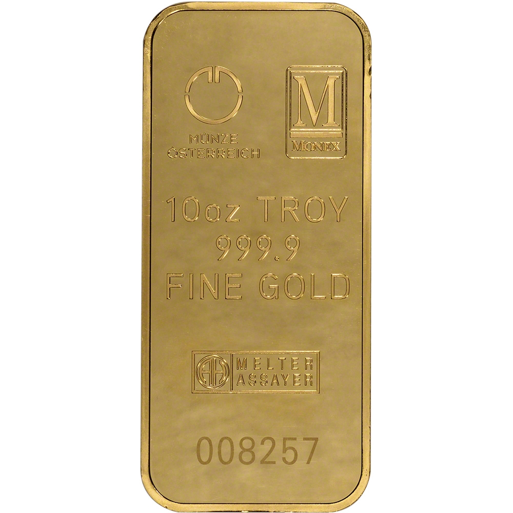 10 Oz Gold Bar Monex 999 9 Fine