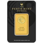 10 oz. Gold Bar - Perth Mint - 99.99 Fine in Assay