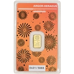 1 gram Gold Bar - Argor Heraeus - 2021 Lunar Year of the Ox 999.9 Fine in Assay