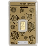 1 gram Gold Bar - Argor Heraeus - 2020 Lunar Year of the Rat 999.9 Fine in Assay