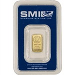 1 gram Gold Bar - Sunshine Minting - .9999 Fine in Sealed Assay