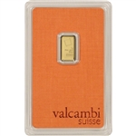 1 gram Gold Bar - Valcambi Suisse - 999.9 Fine in Sealed Assay