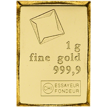 1 gram Gold Bar Valcambi Suisse from Gold CombiBar 999.9 Fine
