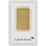 1 oz. Credit Suisse 99.99 Fine Gold Bullion Bar in Assay