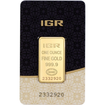 1 oz. IGR Gold Bar - Istanbul Gold Refinery - 999.9 Fine in Sealed Assay