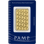 1 oz. PAMP Suisse Design 999.9 Fine Gold Bullion Bar in Assay