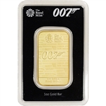 1 oz Gold Bar - Royal Mint - James Bond 007 No Time To Die 999.9 Fine in Assay