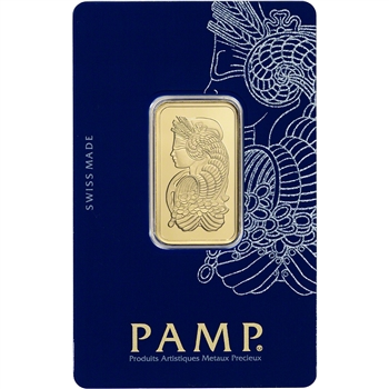 20 gram Gold Bar - PAMP Suisse - Fortuna - 999.9 Fine in Sealed Assay