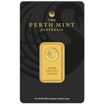 20 gram Gold Bar - Perth Mint - 99.99 Fine in Assay