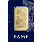 50 gram Gold Bar - PAMP Suisse - Fortuna - 999.9 Fine in Sealed Assay
