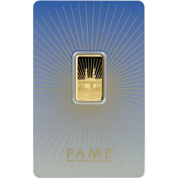 5 gram Gold Bar - PAMP Suisse - Mecca - 999.9 Fine in Assay
