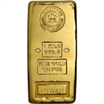 Kilo 32.15 oz Gold Bar RCM Royal Canadian Mint .9999 Fine with Assay Certificate