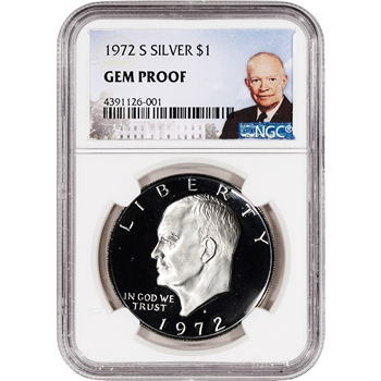 1972-S US Eisenhower Silver Dollar Proof $1 - NGC Gem Proof