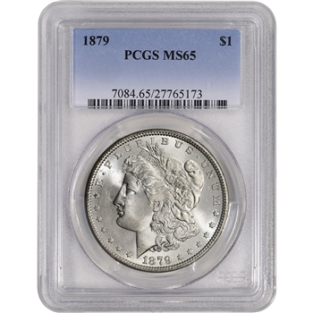 1879 US Morgan Silver Dollar $1 - PCGS MS65 - Tough P Mint