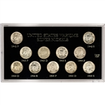 11-pc. 1942 - 1945 United States Wartime Silver Nickels Set - CH BU