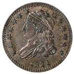 1821 US Capped Bust Silver Dime 10C - Small Date - AU Details