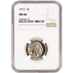 1915 US Buffalo Head Nickel 5C - NGC MS66