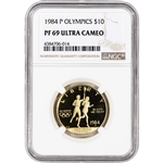 1984-P US Gold $10 Olympic Commemorative Proof - NGC PF69 UCAM