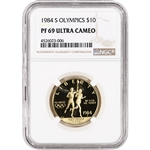 1984-S US Gold $10 Olympic Commemorative Proof - NGC PF69 UCAM