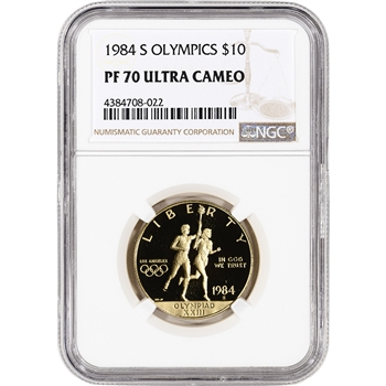 1984-S US Gold $10 Olympic Commemorative Proof - NGC PF70 UCAM