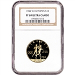 1984 W US Gold $10 Olympic Commemorative Proof - NGC PF69 UCAM