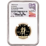 1984 W US Gold $10 Olympic Commemorative Proof - NGC PF70 UCAM Castle Signed