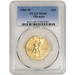 1984-W US Gold $10 Olympic Commemorative BU - PCGS MS69