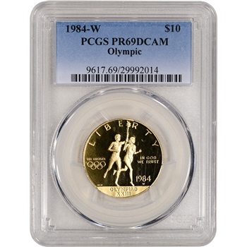 1984-W US Gold $10 Olympic Commemorative Proof - PCGS PR69 DCAM