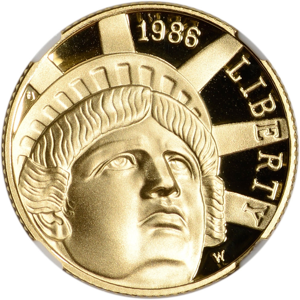 1986 statue of liberty 5 gold coin