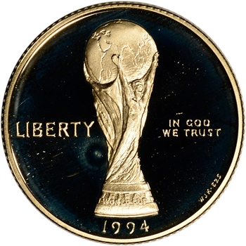 1994-W US Gold $5 World Cup Commemorative Proof - Coin in Capsule