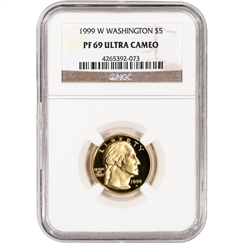 1999-W US Gold $5 George Washington Commemorative Proof - NGC PF69 UCAM