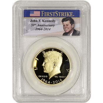 2014-W US Gold 50C Kennedy Proof PCGS PR69 - First Strike - Photo Label