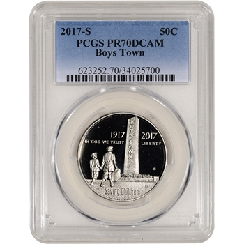 2017-S US Boys Town Commemorative Proof Half Dollar - PCGS PR70 DCAM