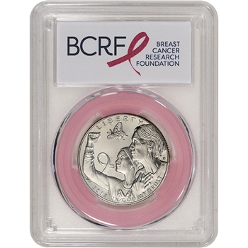 2018-D US Breast Cancer Commemorative BU Half Dollar PCGS MS69 First Strike Pink
