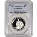 1982-S US George Washington Commemorative Proof Silver Half Dollar - PCGS PR69