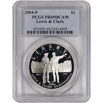 2004-P US Lewis & Clark Commemorative Proof Silver Dollar - PCGS PR69 DCAM