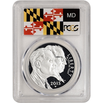 2015-W US March of Dimes Commemorative Proof Silver Dollar - PCGS PR70 Baltimore