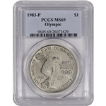 1983-P US Olympic Commemorative BU Silver Dollar - PCGS MS69