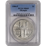 1984-P US Olympic Commemorative BU Silver Dollar - PCGS MS69