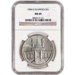 1984-S US Olympic Commemorative BU Silver Dollar - NGC MS69
