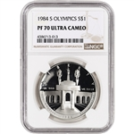 1984-S US Olympic Commemorative Proof Silver Dollar - NGC PF70 UCAM